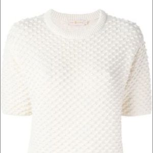 Tory Burch Textured Knit Sweater XS